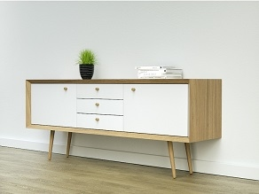 Beuken meubelpoot - konisch Ø34-25mm - lengte 150mm