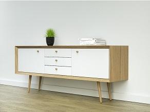 Beuken meubelpoot - konisch Ø34-25mm - lengte 450mm