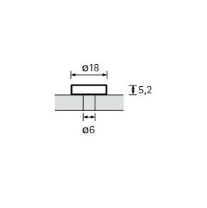 Bevestigingsrozet voor greep Gela M4 - glans verchroomd<br />Per paar
