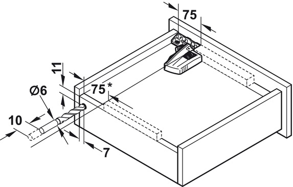 Blum Movento incl. softclosing - 650mm - 60kg