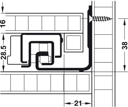 Blum Movento incl. softclosing en push to open 700mm - 60kg<br />Per paar
