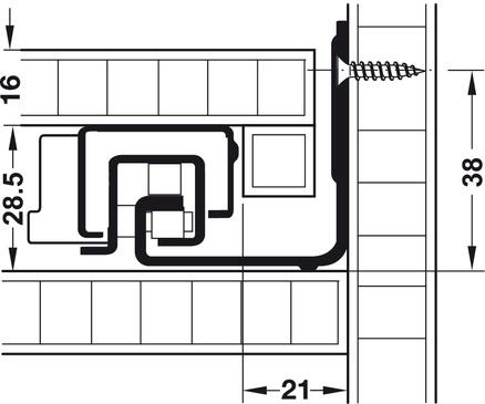 Blum Movento incl. softclosing en push to open 750mm - 60kg<br />Per paar