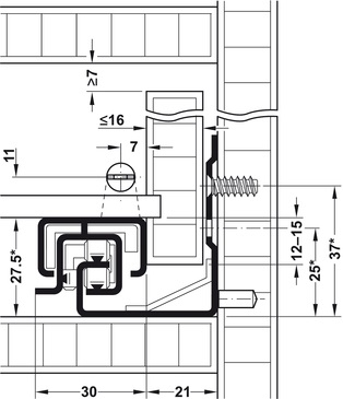 Blum Tandem inclusief push-to-open 450mm - 30kg<br />Per paar