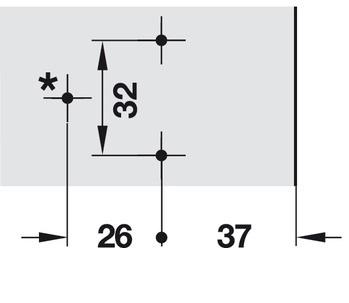 Clip Top kruismontageplaatje in hoogte verstelbaar