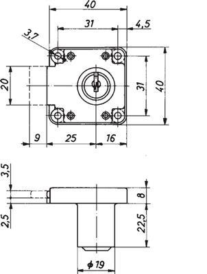 Demontagesleutel voor bovenstaande oplegcilindersloten<br />Per stuk