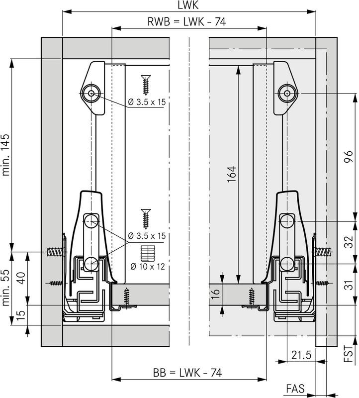 Grass ladeset - hoogte 95 - alum - diepte 500mm - met reling<br />Per set