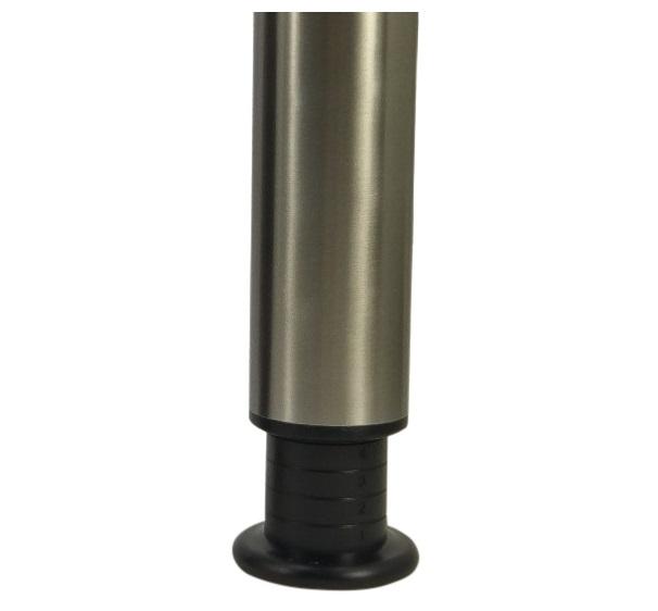 Kindertafelpoot hoogte 45cm - verstelbaar tot 65cm - RVS