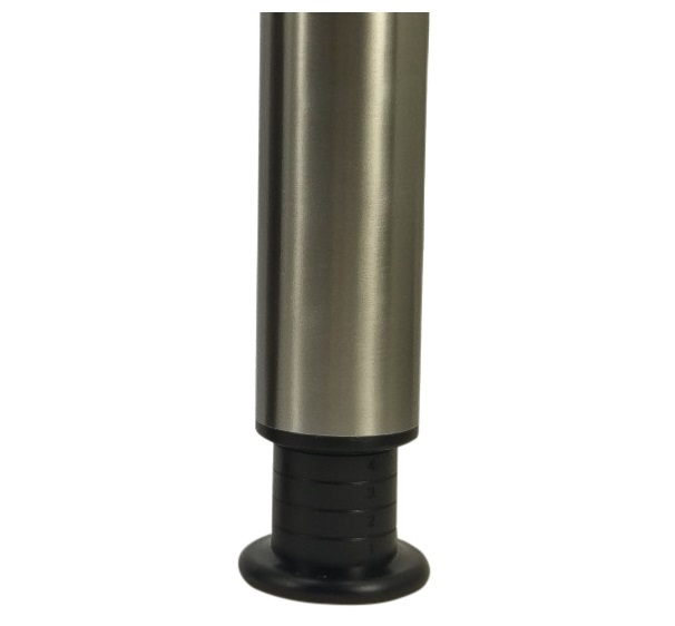 Kindertafelpoot hoogte 60cm - verstelbaar tot 80cm - RVS