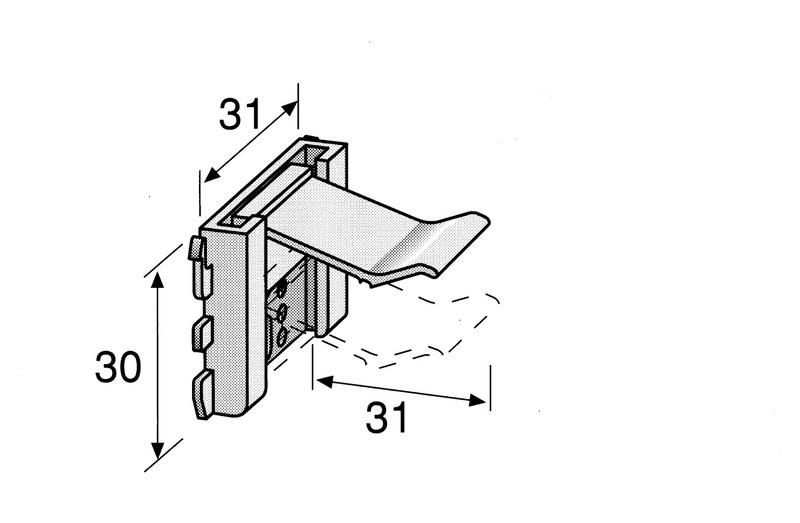 Plintklem - klemt de plint tussen vloer en kast<br />per stuk