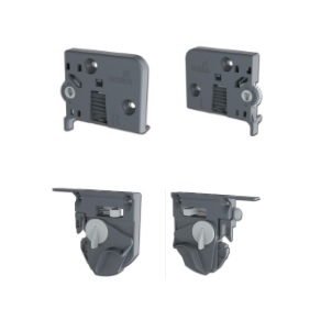 Quadro V6/600mm Silent System - 4D - Belastbaar tot 30kg<br />Per paar