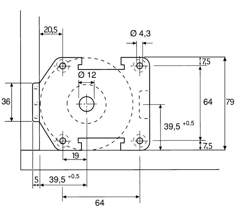Stelpoten tbv keukenkasten - diameter 35mm - hoogte 45mm<br />per stuk