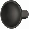 Meubelknop mat zwart - zink aluminium Ø 35mm