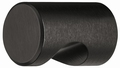 Meubelknop zwart - aluminium - met handgreep - Ø 12mm