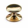Knop Sala - Messing gepolijst - Diameter 25 mm