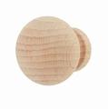 Meubelknop beukenhout - diameter 33mm