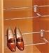Schoenenrek verstelbaar - chroom - 45-62cm