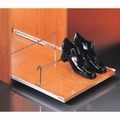Uittrekbaar schoenenrek 53x10x4cm - rolgeleider