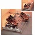 Uittrekbaar schoenenrek 63-82cm - kogelgeleider