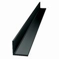 Afwerkprofiel deur aluminium zwart - 200cm