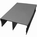 Bovenrail aluminium zwart - 420cm