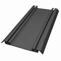 Onderrail aluminium zwart - 420cm