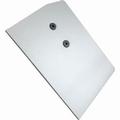 Afdekkap links aluminium - voor bovenrail