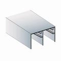 Bovenrail aluminium mat zilver - 510cm
