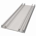 Onderrail aluminium mat zilver - 510cm