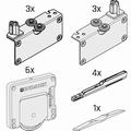 Set beslag voor 3 deuren - softclosing - tot 50kg per deur