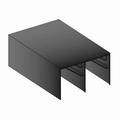 Bovenrail zwart glans - 420cm - J6