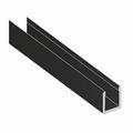 Deurprofiel laag zwart glans  - 200cm - J6