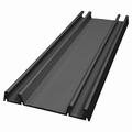 Onderrail zwart glans - 420cm - J6