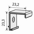 Montageclip voor schuine deur - kunststof - grijs