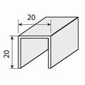 Rail voor schuine deuren - 145cm - aluminium