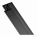 Dwarsprofiel zwart glans - 200cm - J6