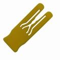 Afstandsplaatje kunststof geel 4mm dik - 70x25mm
