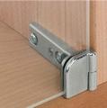 Glasdeurscharnier, voor deurmontage zonder glasboring