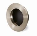 Greep Aboa - Geborsteld edelstaal - zwart - Diameter 65 mm