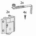 Set beslag voor een schuine buitendeur - Junior 2S - 50kg