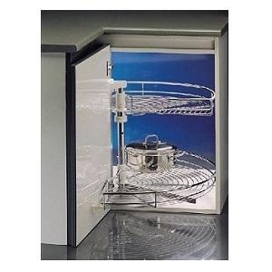 Draaicarrousel Chroom 180 graden