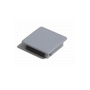 Insteekdoppen vierkant grijs RAL 7040