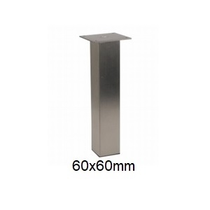 RVS meubelpoten op maat - vierkant 60x60mm
