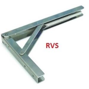Vouwdragers. automatische/ zware uitvoering RVS